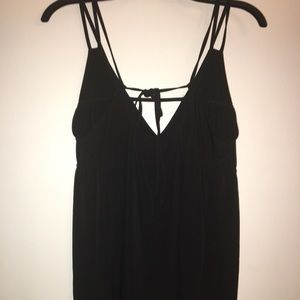 Maurices Tops - Black tank with tie strap in back.